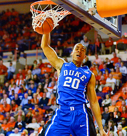 Andre Dawkins gives the Blue Devils a huge lift, scoring 24 points off the bench against Clemson. (AP)