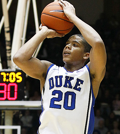 Andre Dawkins helps Duke get out of the gate strong, scoring 21 first-half points. (AP)