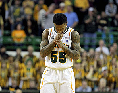 Baylor's Pierre Jackson reacts after missing a shot in the second half of the Bears' 89-88 loss to Missouri. (US Presswire)