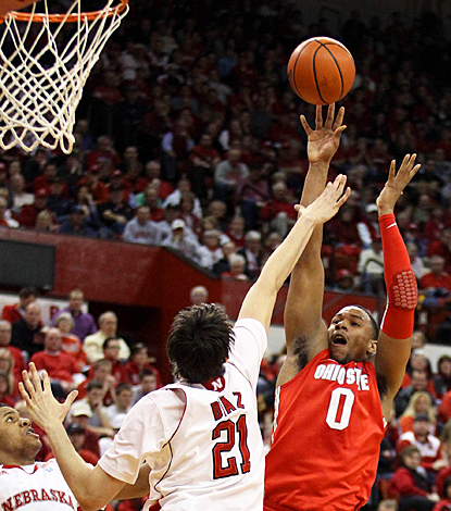 The Cornhuskers have no answer for Jared Sullinger, who scores 14 points and grabs five rebounds. (US Presswire)