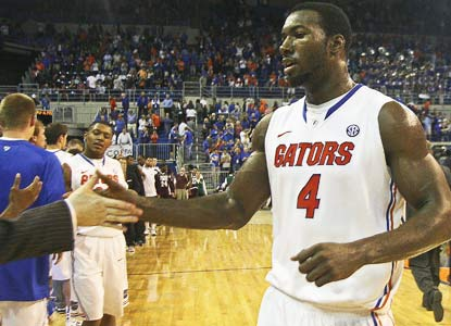 Patric Young gets praise after taking his coach's words to heart, and scoring 12 points off the bench for No. 14 Florida. (US Presswire)