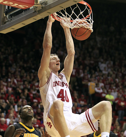 Freshman Hoosier Cody Zeller sparks Indiana with a season-high 26 points, helping his team top Iowa. (AP)