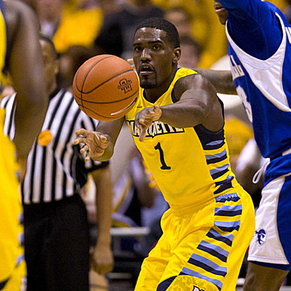 Darius Johnson-Odom plays a big role in Marquette's 16-2 run in the second half. (US Presswire)