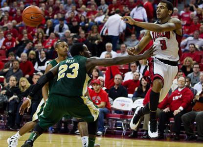 Rebels guard Anthony Marshall adds 13 points to help UNLV cruise against Colorado State. (AP)