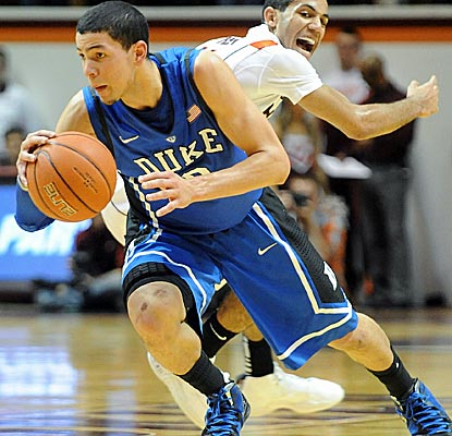 Duke's Austin Rivers scores 18 points to help send Virginia Tech to its seventh loss in eight games.  (AP)