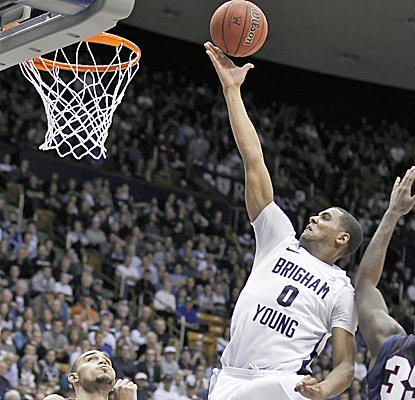 Brandon Davies scores 15 points in the BYU's victory over No. 24 Gonzaga.  (AP)