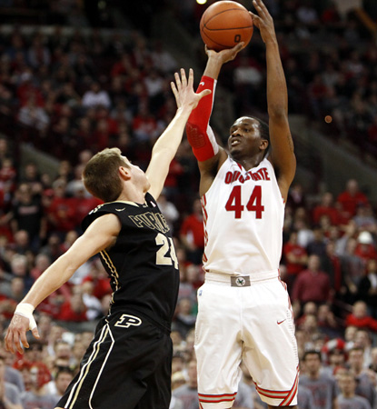 William Buford scores 21 of his 29 points in the second half to help Ohio State get past pesky Purdue.  (AP)