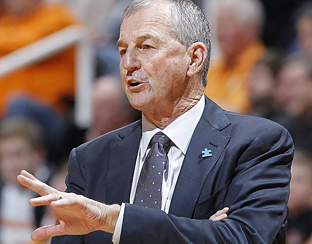 Jim Calhoun's Huskies are barred from the '13 tourney, a penalty for poor academic standards. (Getty Images)