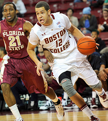 Boston College's Ryan Anderson drives the baseline in the first half against Florida State. (US Presswire)