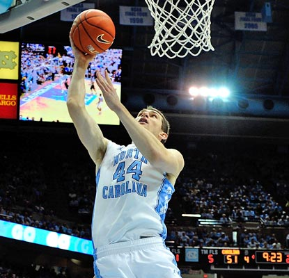 Tyler Zeller doesn't show any ill effects from the Duke game, scoring 25 points and grabbing nine rebounds against Virginia.  (Getty Images)