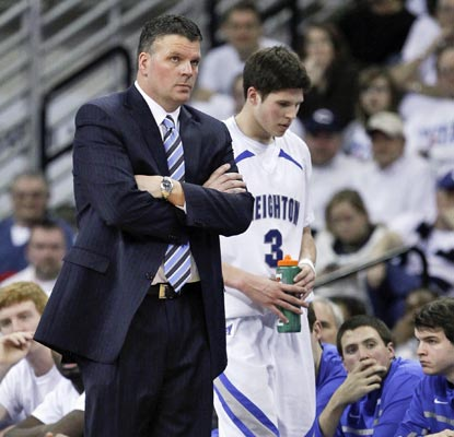 Creighton coach Greg McDermott and star Doug McDermott are stuck in a losing rut in conference play.  (AP)