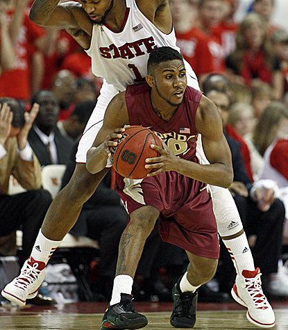 Florida State's Ian Miller scores 17 points to help the Seminoles knock off North Carolina State in Raleigh. (AP)