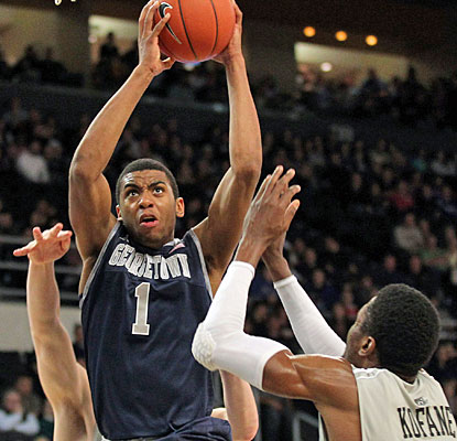 Hollis Thompson helps Georgetown to its fourth victory in the last five games and 20th this season. (US Presswire)