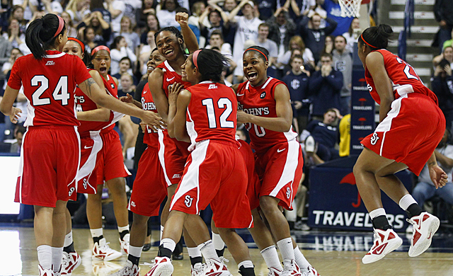 St. John's becomes the first unranked team to beat UConn at home in nearly 19 years. (US Presswire)