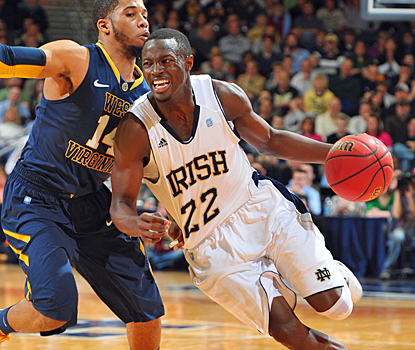 Jerian Grant drives the Fighting Irish to victory with a game-high 20 points against West Virginia. (US Presswire)