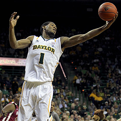With limited first-half minutes due to foul trouble, Perry Jones III plays a big role in Baylor's second-half run.  (US Presswire)