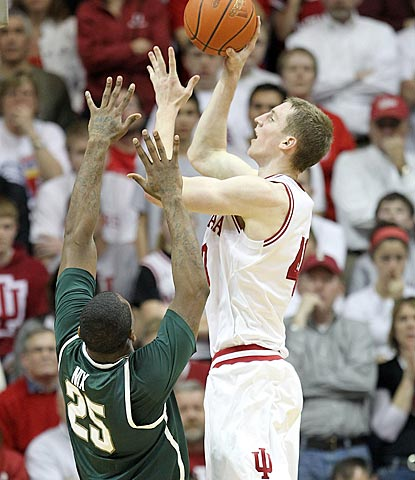 Freshman Cody Zeller scores 18 points on 7-of-12 shooting to help host Indiana take down another top-five team.  (Getty Images)