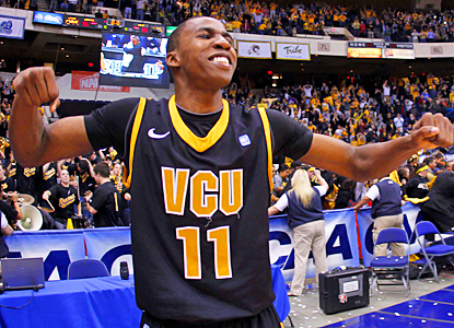 Rob Brandenberg celebrates after helping VCU get to the NCAA tournament for the second year in a row. (US Presswire)
