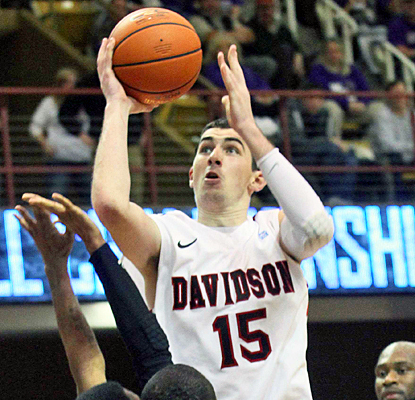 Jake Cohen scores 17 points with seven rebounds to help Davidson hold off Western Carolina for the SoCon title. (US Presswire)
