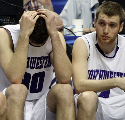 Northwestern suffers what could be a devastating loss toward its hopes of earning the first tournament bid in school history.   (AP)