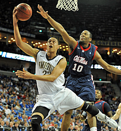 John Jenkins scores 23 points to help lead Vanderbilt past Ole Miss and advance to the SEC title game. (US Presswire)