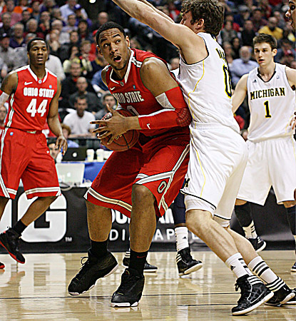Jared Sullinger scores 24 points to lead the Buckeyes past rival Michigan and advance to the Big Ten title game. (US Presswire)