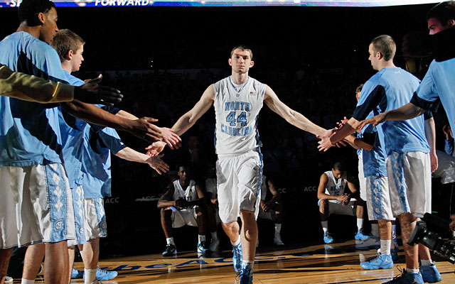 Tyler Zeller has emerged as the Tar Heels' best player while leading UNC's late-season surge. (Getty Images)