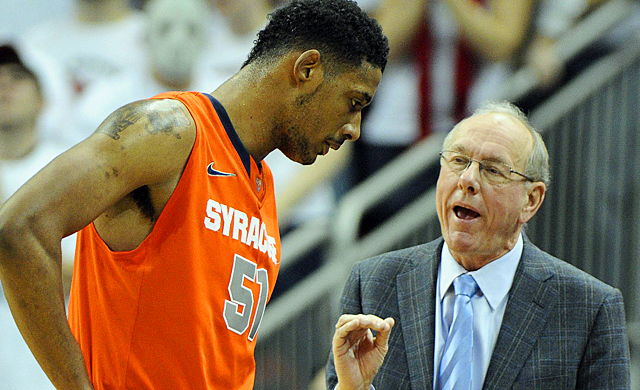 Jim Boeheim's path to a second national title got tougher without Fab Melo ruled ineligible. (US Presswire)