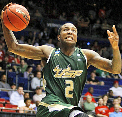 Victor Rudd Jr. helps South Florida reach the Round of 64 with 15 points and five rebounds against Cal. (AP)