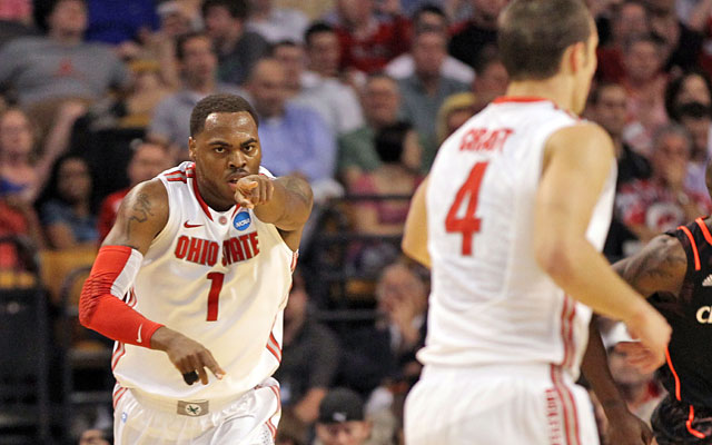 Deshaun Thomas and Aaron Craft play big roles in Ohio State's half-court offense. (Getty Images)