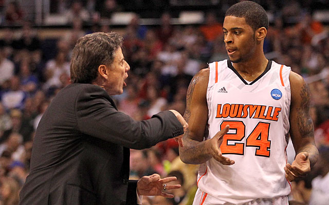 Rick Pitino wants Chane Behanan and Co. to crash the offensive boards and get easy buckets. (Getty Images)