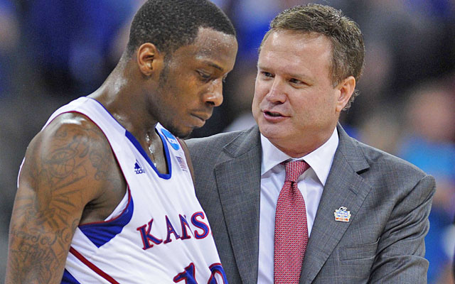 Tyshawn Taylor on Bill Self: 'I haven't been the easiest guy to coach. He found a way.' (US Presswire)