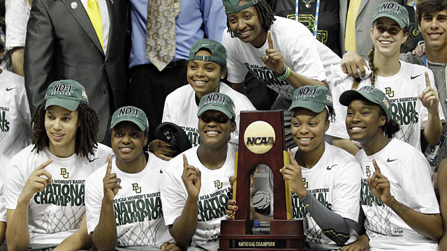 The Lady Bears complete their dominant season by winning the second championship for Baylor. (AP)