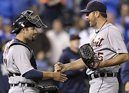Justin Verlander shows no signs of fatigue, thowing his 131st and final pitch at 100 mph.  (AP)