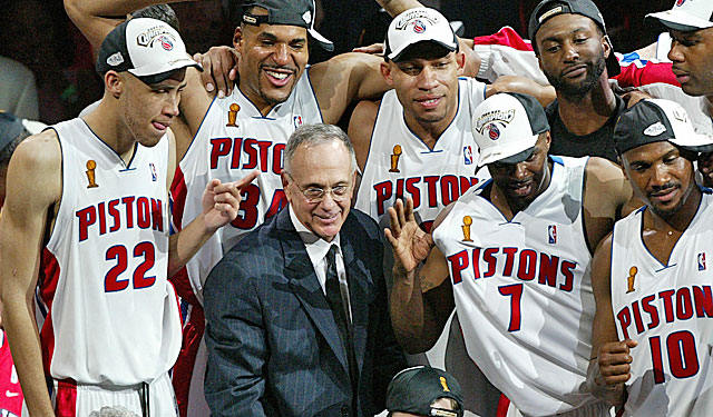 Brown is the only man to win NBA (shown here with the Pistons) and NCAA championships. (Getty Images)