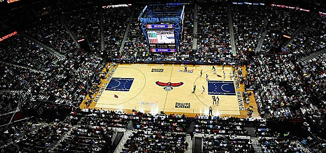 Philips Arena is a tentative venue for next year's D-II and III title games. (US Presswire)