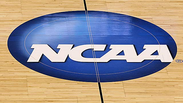 The NCAA wants to do something about decals on the court that compromise player safety. (Getty Images)