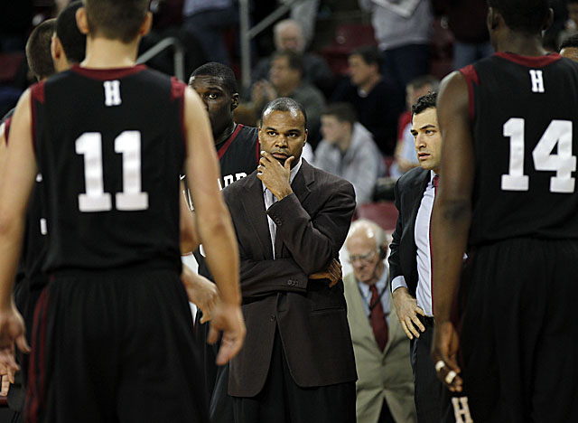 Amaker is optimistic about Harvard's chances this season, but has concerns about his frontcourt. (US Presswire)