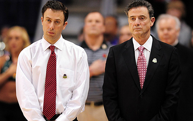 Richard Pitino (left) left his dad's Cardinals team in April to take the helm at FIU. (US Presswire)