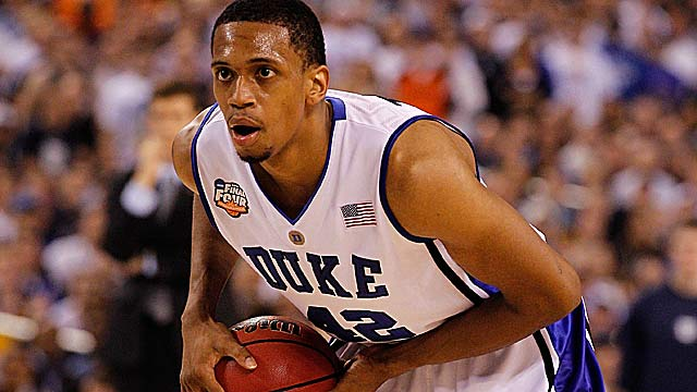 Lance Thomas, now in the NBA, was a starter on the Blue Devils' 2010 championship team. (Getty Images)