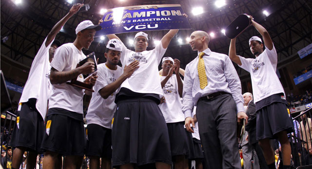 Coach Shaka Smart has transformed VCU into a frequent NCAA tourney contender. (US Presswire)