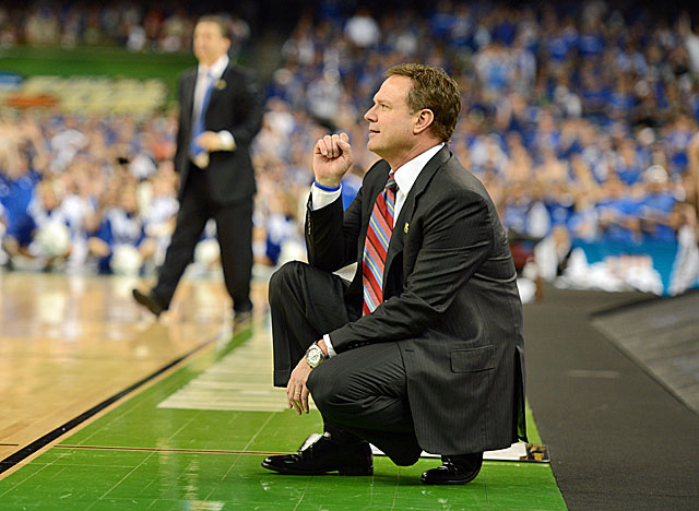 For non-Kansas fans it's hard to remember that Bill Self was on a perpetual hot seat. (US Presswire)