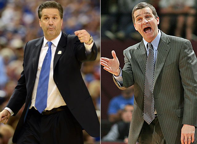 Kentucky's John Calipari and Maryland's Mark Turgeon are both aiming to land the Harrison twins. (US Presswire)