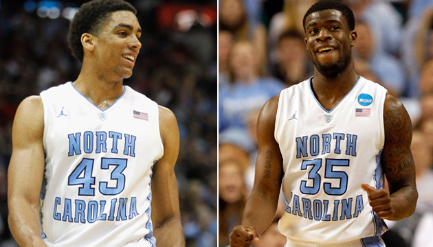 James Michael McAdoo, left, and Reggie Bullock will breakout at UNC this season. (Getty Images)