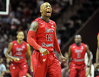 Antoine Allen hits four 3-pointers and scores 21 points in South Alabama's upset win over FSU. (US Presswire)