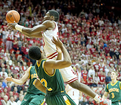 Indiana guard Remy Abell provides 14 points and five rebounds off the bench in 17 minutes of action. (Getty Images)