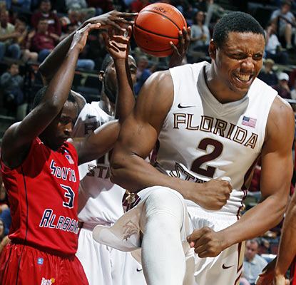 Terrance Shannon (9 points) and the Noles outmuscle the Bulls and come away with a 25-point victory. (AP)