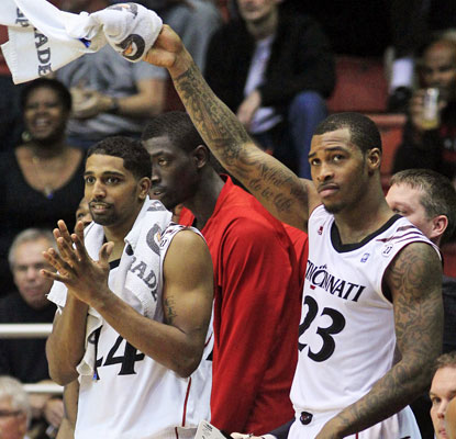 Sean Kilpatrick (right) and JaQuon Parker combine for 33 points and watch as the bench finishes off the blowout win.  (US Presswire)