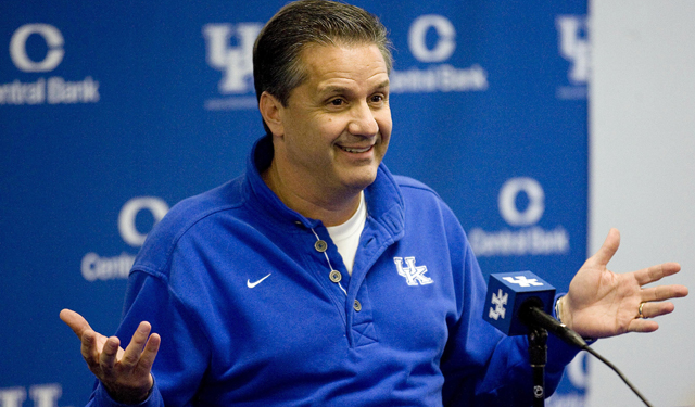 Kentucky coach John Calipari again brings in the nation's top recruiting class. (US Presswire)