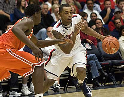 Mark Lyons drives to the hoop Thursday against UTEP. Lyons has a game-high 17 points. (US Presswire)